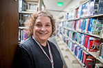 Librarian Janet Wulf co