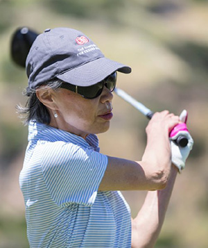 Mary enjoys golfing with her family 300px